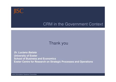 Crm Syllabus Mba by Crm In The Government Context