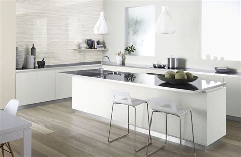 laminex kitchen ideas gloss benchtop with brushed metal edging and