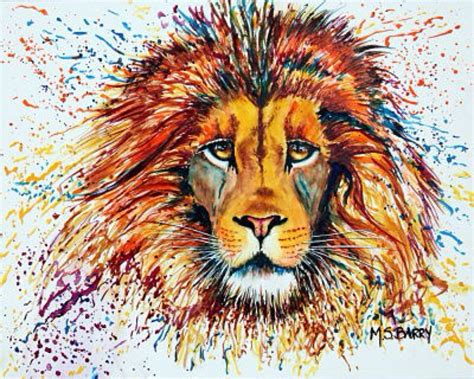watercolor lion tutorial male lion s head watercolor painting of an african lion