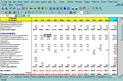 screen shot cashflow plan cash flow plan cashflow