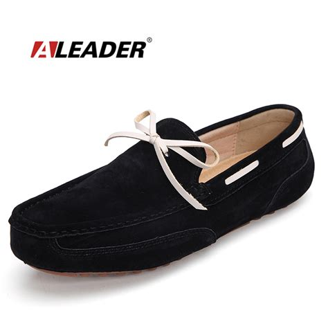 summer loafers casual mens leather loafers shoes summer suede leather