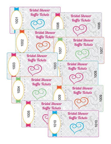 printable bridal shower raffle tickets 18 best wedding game raffle ticket images on pinterest