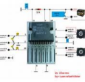 Amplificador Com Tda 15571 450x401 De &225udio Para Carro