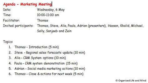 8 top tips for getting the most out of taking the official meeting minutes organised and mind