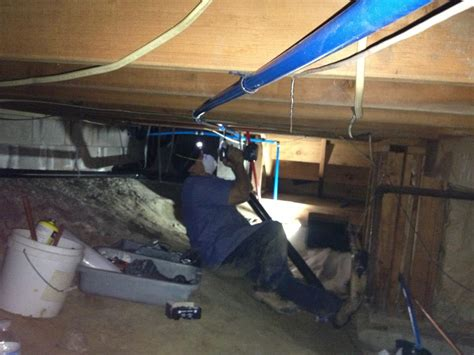 Space City Plumbing by Crawl Space Pex Water Lines Re Pipe Yelp
