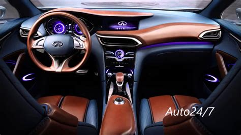 infiniti qx30 interior new 2016 infiniti qx30 interior official release youtube