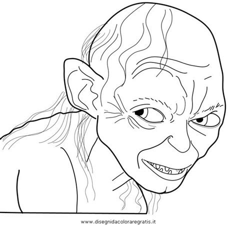 cunning smeagol from the hobbit coloring page to print