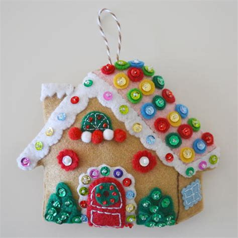 gingerbread house christmas ornament allfreesewing com