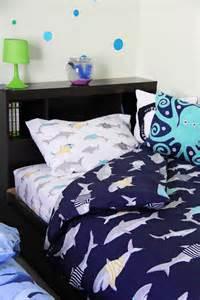 boys shark theme shared bedroom a pretty in the suburbs