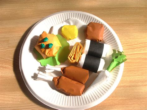 How To Make Food Out Of Paper - origami food craft ideas preschool crafts for
