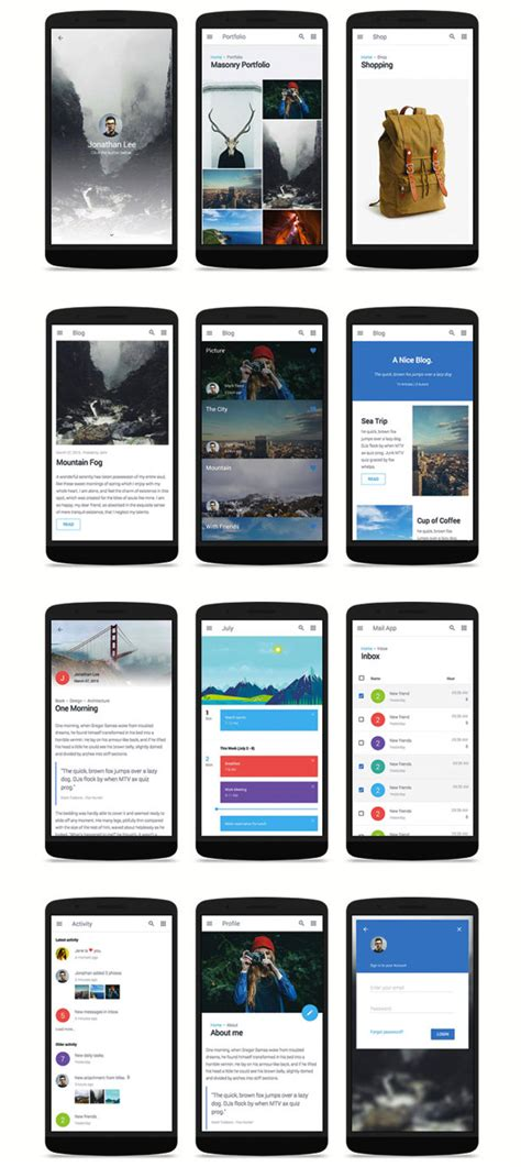css mobile app 60 best mobile web html templates 2015
