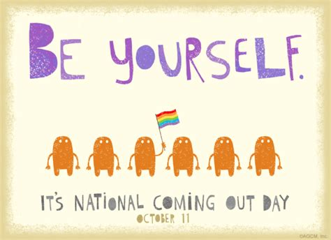Coming Out Day - 10 11 coming out day celebrate the date ecard american