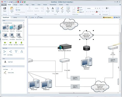 free network diagram software diagram software try smartdraw s free diagramming maker