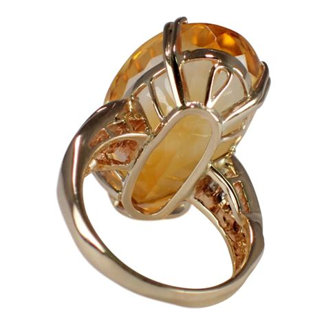 Yellow Gold Citrine by 14k Yellow Gold Citrine And Cocktail Ring Attos