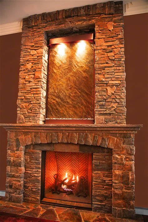wall above fireplace