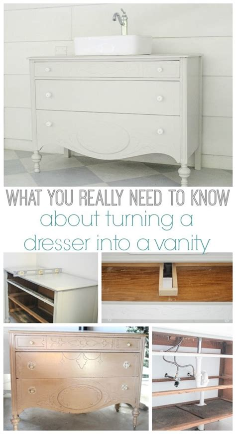 how to make a dresser into a bathroom vanity how to make a dresser into a bathroom vanity the nitty gritty lovely etc