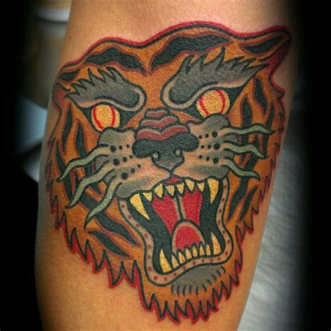 traditional tiger tattoo tiger traditionaltattoo traditional americana