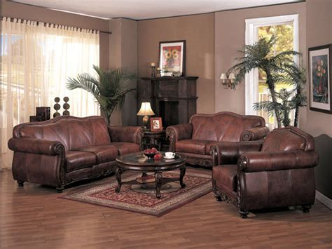 Living Rooms With Leather Sofas Living Room Decorating Ideas With Brown Leather Furniture