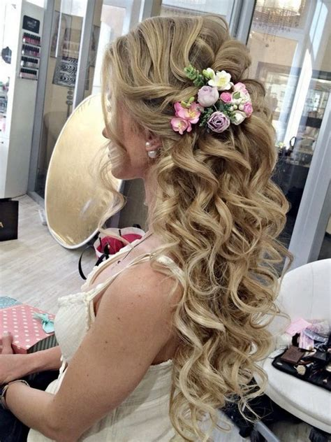 wedding hairstyles flower bridal hairstyles for hair with flower