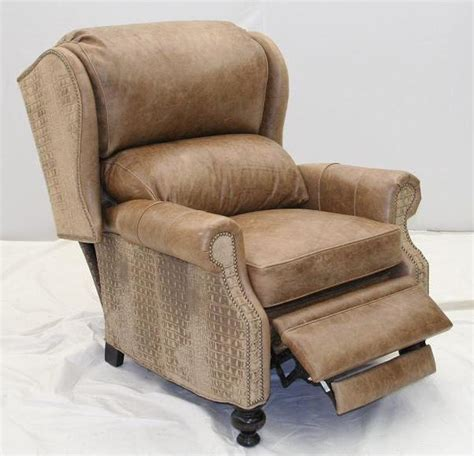 unique recliner chairs gator leather recliner unique high style furniture