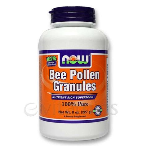 Bee Pollen Detox by Now Foods Bee Pollen Granules 8 Oz Evitamins