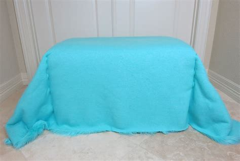 how to cover a ottoman with fabric how to reupholster an ottoman with faux fur