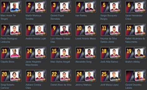 Calendario F C Barcelona 2015 Los Dorsales Bar 231 A 2014 2015 Casi Definidos Fc