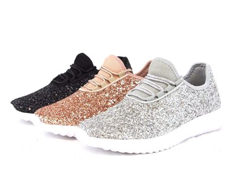 sequin shoes sequin glitter sneakers tennis lightweight comfort