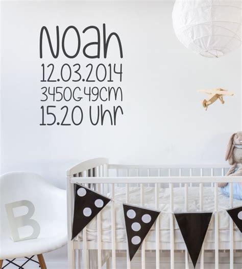 Wandtattoo Kinderzimmer Personalisiert by Geburtsdaten Name Geburtstag Individuell