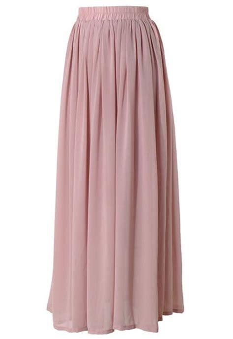 conservative modest length pink maxi skirt mode sty