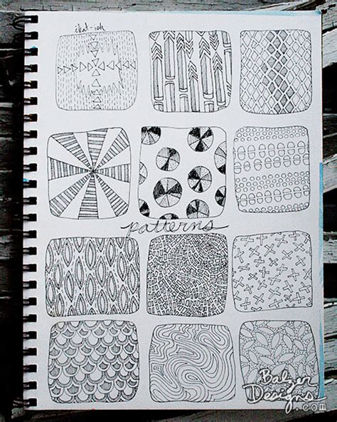 pattern of doodle balzer designs paperclipping pattern doodles
