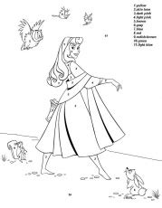water princess coloring pages fish on the water color by number coloring page