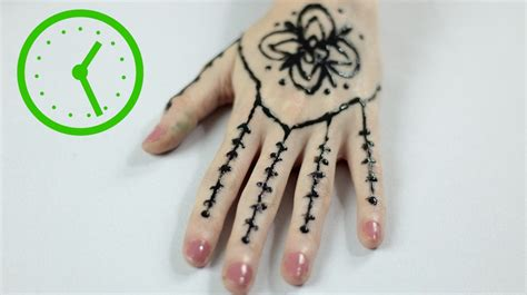 how to design a tattoo 3 ways to draw henna tattoos wikihow