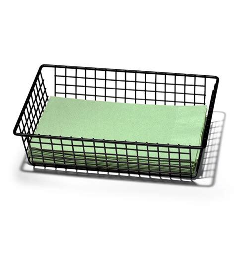 9 inch organizer 6 x 9 inch grid organizer black in wire baskets