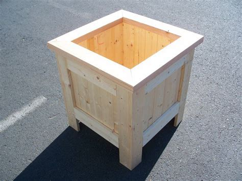 wooden box planters 33 best images about wood planter tree box on more trees diy planter box and