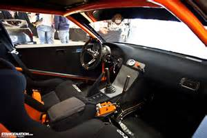 and clean interior of a drift car speed n style
