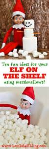 on the shelf ideas using marshmallows
