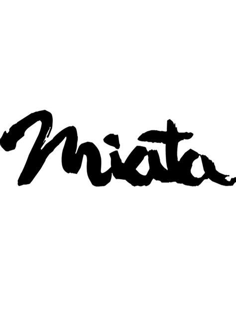 Quot Mazda Miata Logo Emblem Quot By Grove Redbubble
