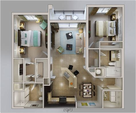 house plans with apartments 2 master bedroom apartments home design