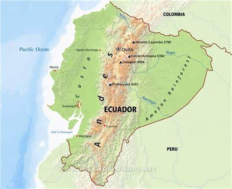world map ecuador ecuador physical map