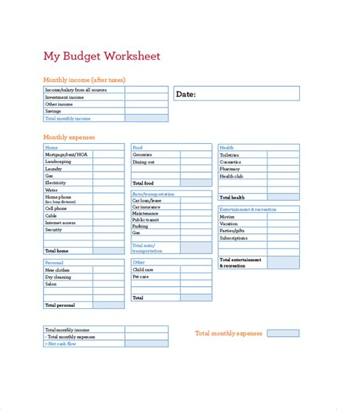 Hoa Budget Template by Hoa Budget Template Ideal Vistalist Co