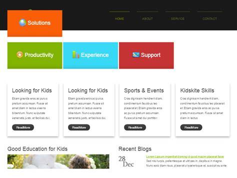 play school website templates free free children templates collection free website templates