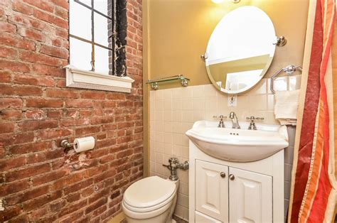 Exposed Brick Bathroom   Traditional   Bathroom   New York
