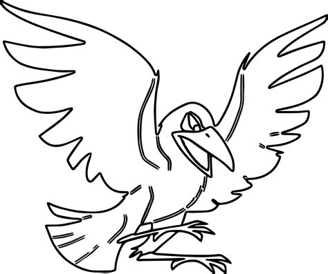 crow bird coloring page john boy of the waltons free coloring pages