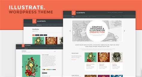 new wordpress theme illustrate