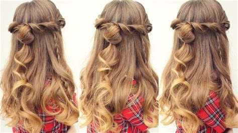 easy half up half down hairstyles youtube easy half up half down hairstyle half down hairstyles