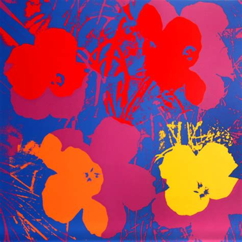 andy warhol fiori flowers v original by andy warhol picassomio