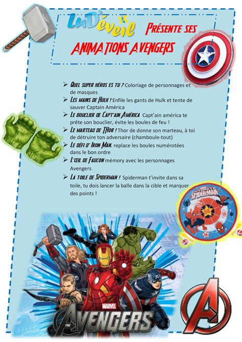 Creative Invitation by Anniversaire Avengers Marvel Lud 233 Veil