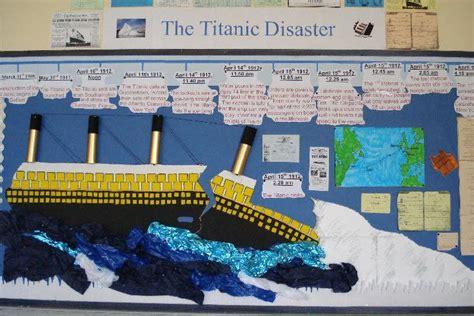Titanic Did You Soul Project Titanic Timeline Bulletin Board Idea School Titanic Lesson Plans Language