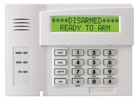 honeywell 6164us alphanumeric alarm keypad with four